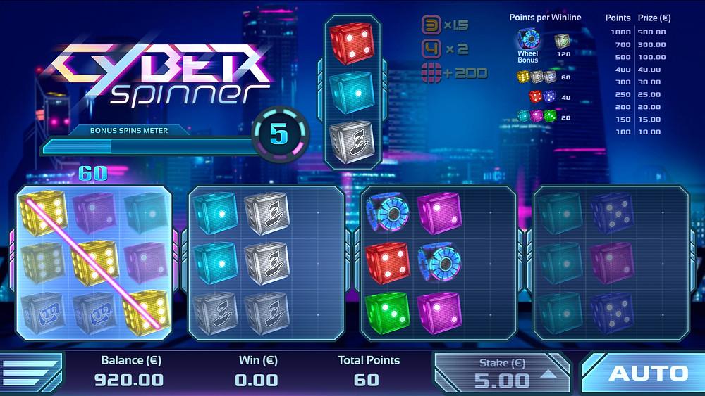Luckygamesblog - Airdice Cyber Spinner