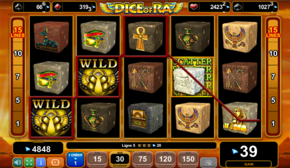 Blog LuckyGames.be - EGT Dice of Ra Dice Slot Review