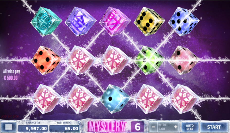 Blog LuckyGames.be - Airdice Flash Freeze Dice Slot Review