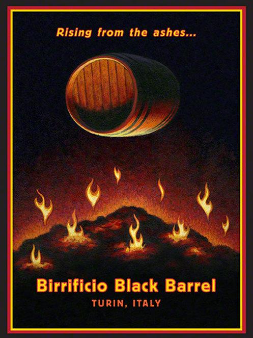 Birrificio Black Barrels Poster
