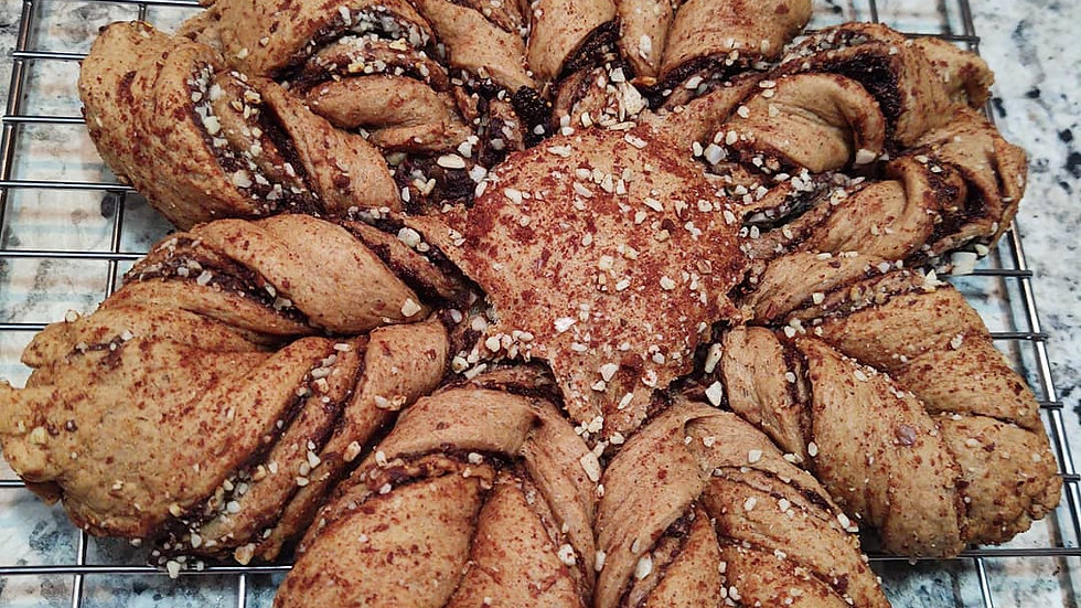 Fig Almond Daisy Challah Bread Vegan Refine Sugar-Free