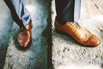 Los zapatos de cuero
