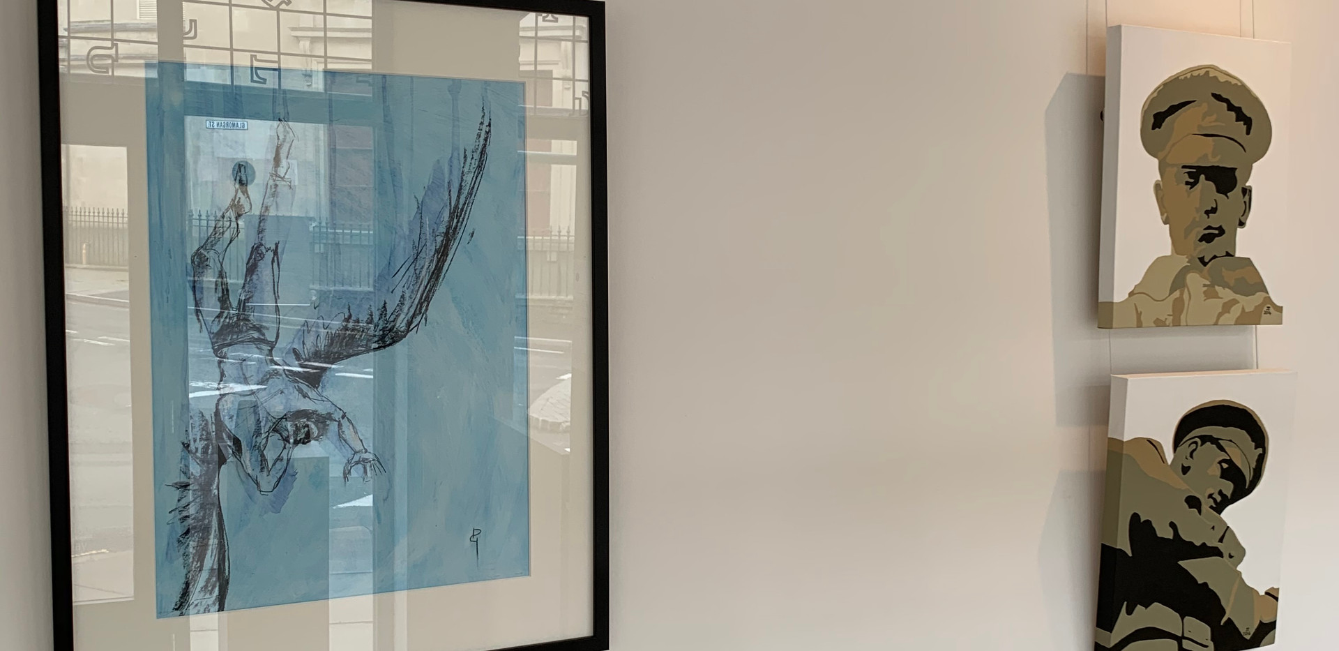 Icarus Angel I by Deborah Gillingham with acrylics on canvas by John Turnock - Lament & Why?