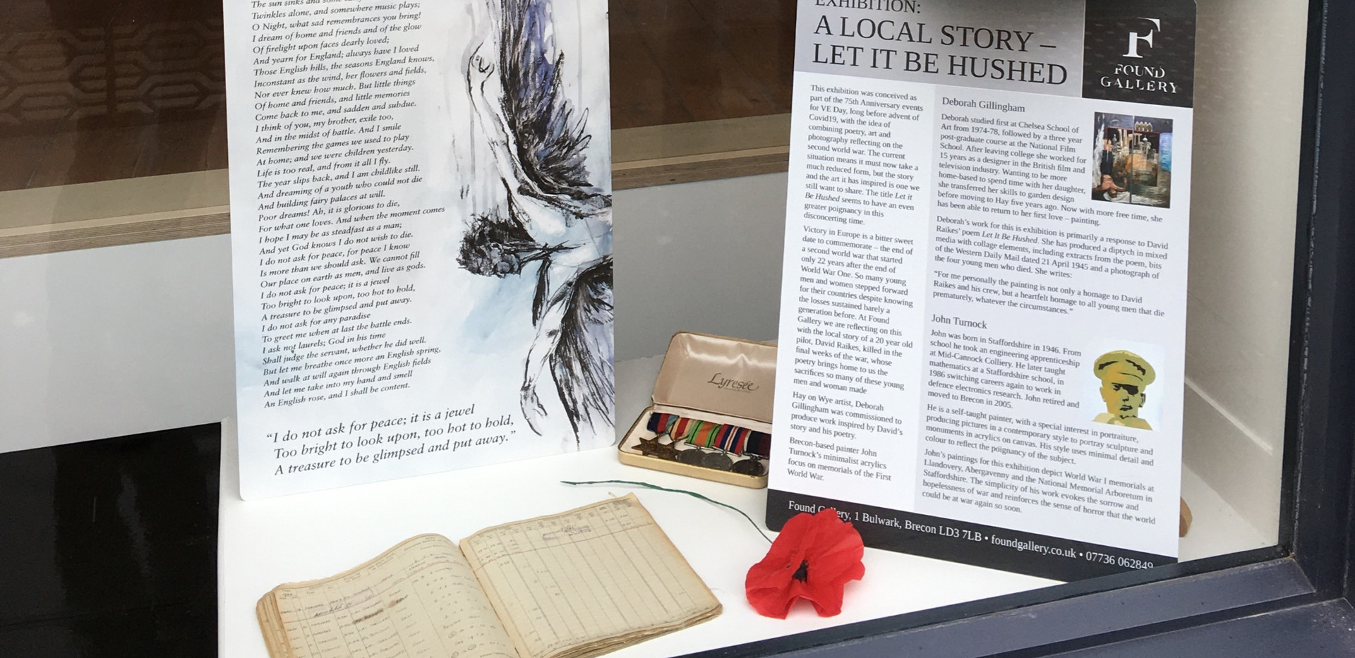 Poems in the window