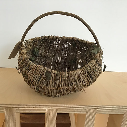 Rustic basket with ivy