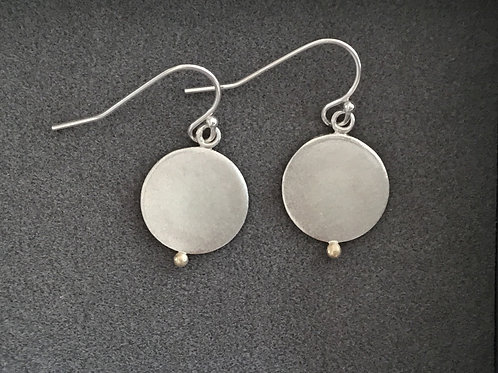 Golden Pebble Drop Earrings