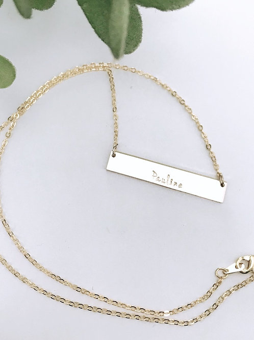 Gold filled bar necklace