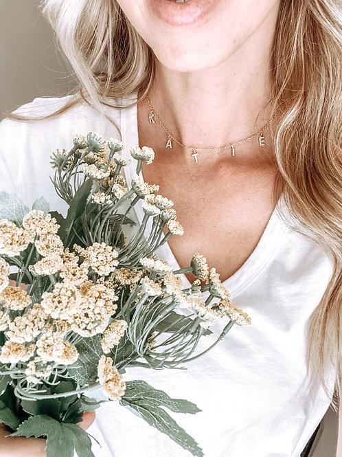 Pavé charm necklace