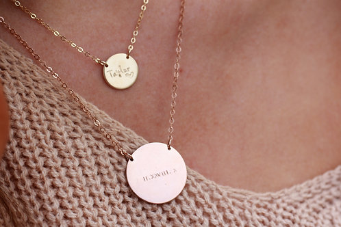 """7/8"""" Disc necklace"""
