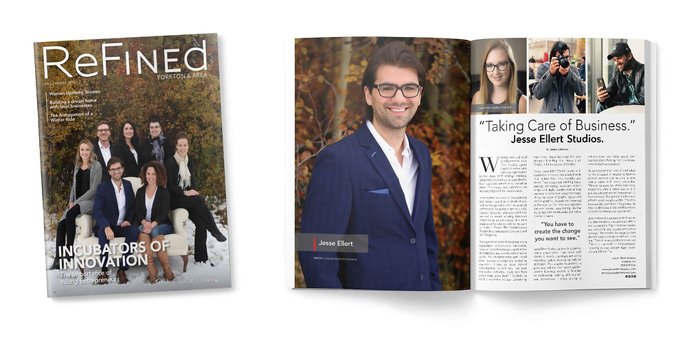 Refined Magaizne cover story and feature on Jesse Ellert branding and graphic design studios