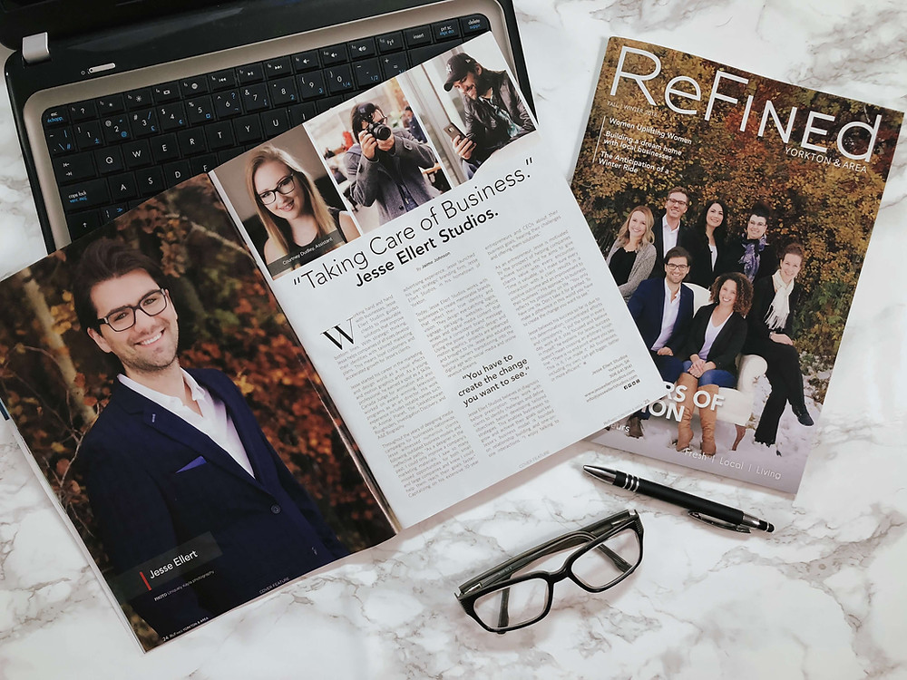 Cover Story Refined Magazine interview with Jesse Ellert branding Studios