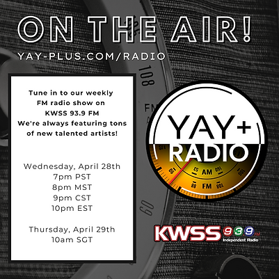On the Air YAY plus Radio show graphic (