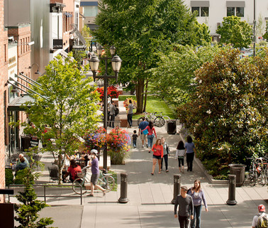 A vibrant public realm that supports local culture.