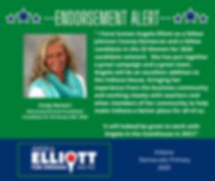 Cindy Reinert Facebook Post - Endorsemen