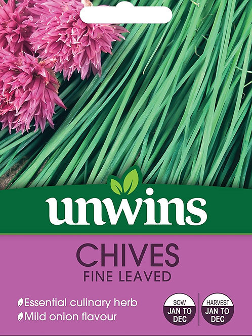 Unwins Chives Fine Leaved Seeds - Approx 600 Seeds