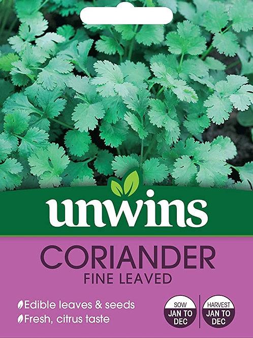 Unwins Coriander Fine Leaved - Approx 200 Seeds