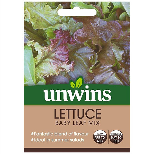 Unwins Lettuce Baby Leaf Mix - Approx 500 Seeds