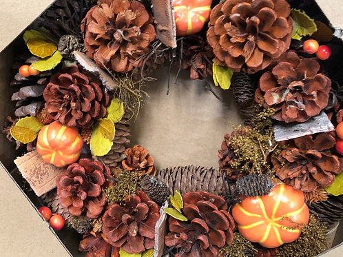 Autumn Artificial Wreath - 28cm
