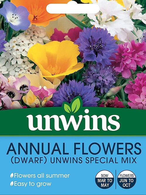 Unwins Annual Flowers (Dwarf) Unwins Special Mix - Approx 400 Seeds