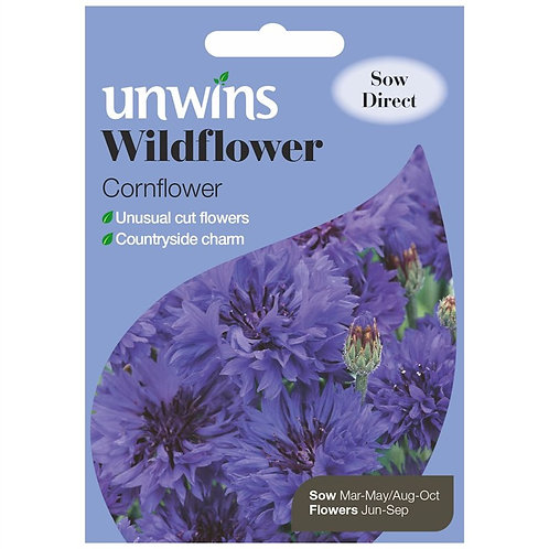 Unwins Wildflower Cornflower - Approx 100 Seeds