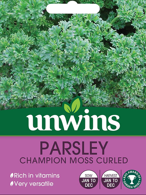 Unwins Parsley Champion Moss Curled - Approx 800 Seeds