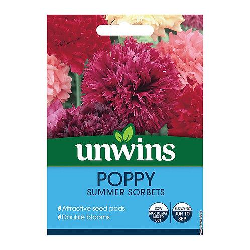 Unwins Poppy Summer Sorbets - Approx 500 Seeds