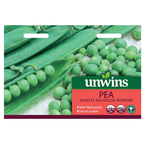 Unwins Pea (Early) Kelvedon Wonder - Approx 300 Seeds