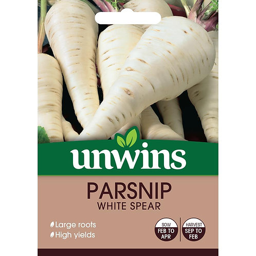 Unwins Parsnip White Spear - Approx 200 Seeds