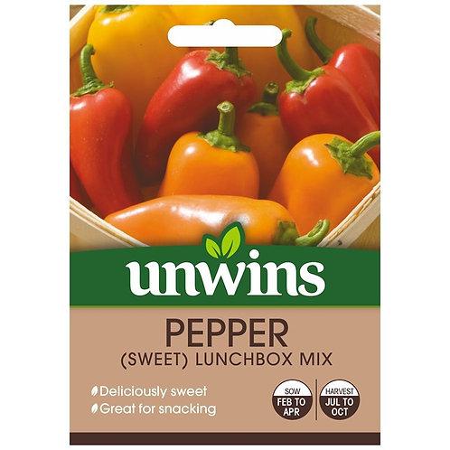 Unwins Pepper (Sweet) Lunchbox Mix - Approx 6 Seeds