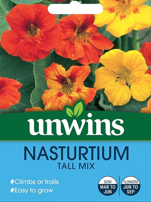 Unwins Nasturtium Tall Mix - Approx 35 Seeds