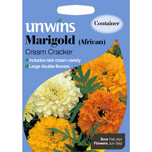 Unwins Marigold (African) Cream Cracker - Approx 100 Seeds