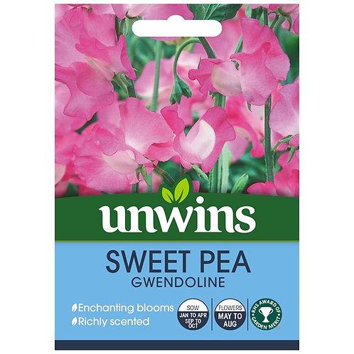 Unwins Sweet Pea Gwendoline - Approx 21 Seeds