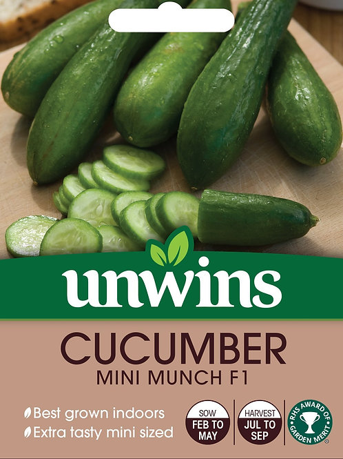 Cucumber Mini Munch F1 (Unwins)
