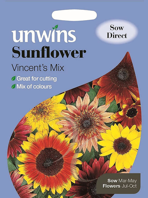 Unwins Sunflower Vincent's Mix - Approx 20 Seeds