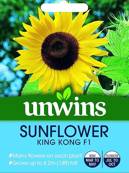 Unwins Sunflower King Kong F1 - Approx 10 Seeds
