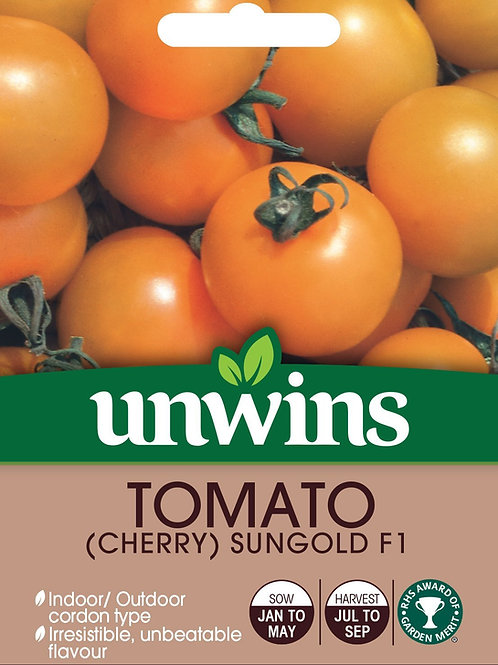 Unwins Tomato (Cherry) Sungold F1 - Approx 8 Seeds