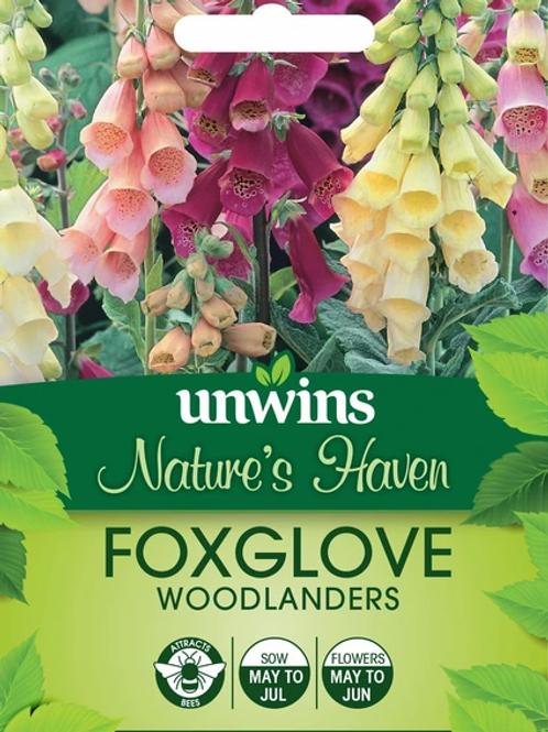 Unwins Natures Haven Foxglove Woodlanders - Approx 500 Seeds