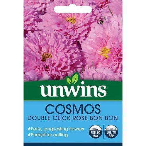 Unwins Cosmos Double Click Rose Bon Bon - Approx 10 Seeds