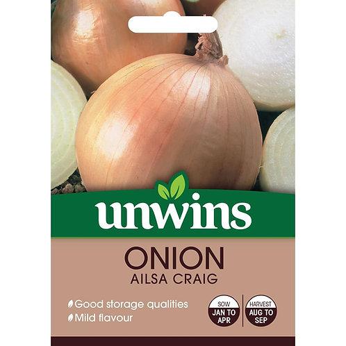 Unwins Onion Ailsa Craig - Approx 300 Seeds