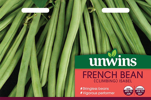 Unwins French Bean (Climbing) Isabel - Approx 50 Seeds