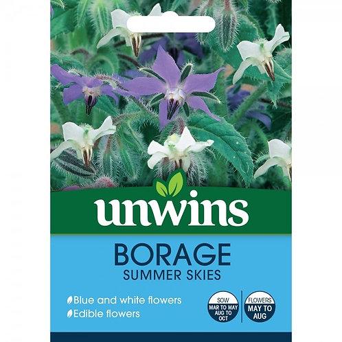 Unwins Borage Summer Skies - Approx 120 Seeds