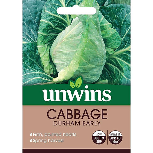 Unwins Cabbage Durham Early - Approx 350 Seeds
