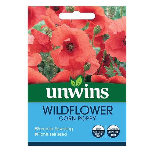 Unwins Wildflower Corn Poppy - Approx 2500 Seeds