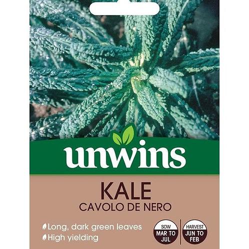 Unwins Kale Cavolo De Nero - Approx 200 Seeds