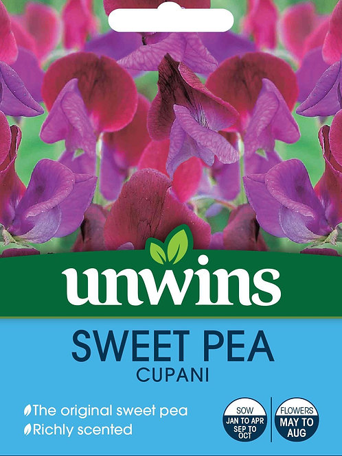 Unwins Sweet Pea Cupani - Approx 21 Seeds