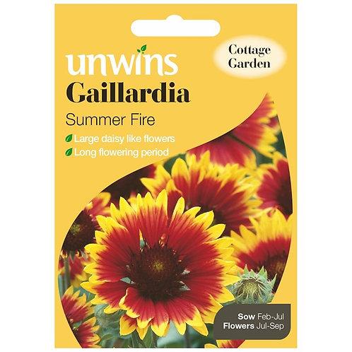 Unwins Gaillardia Summer Fire - Approx 150 Seeds