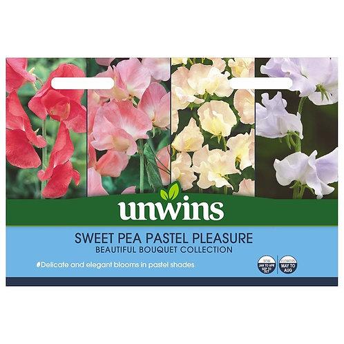 Unwins Sweet Pea Pastel Pleasure - 4 Varieties