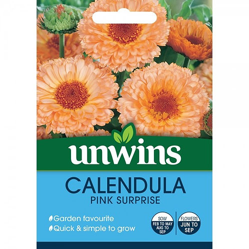 Unwins Calendula Pink Surprise - Approx 100 Seeds