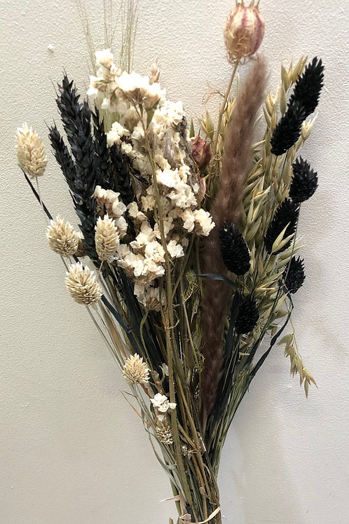 Bouquet Cross Black & White Mixed (Dried Flowers)