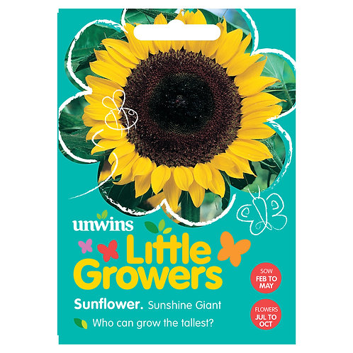 Unwins Little Growers Sunflower Sunshine Giant - Approx 35 Seeds